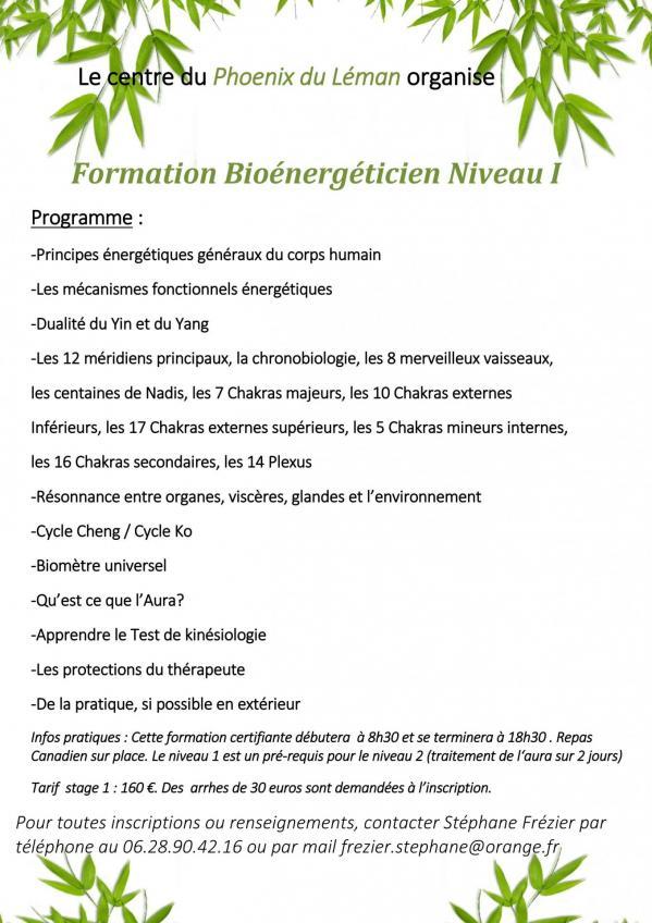 Programme Bio Niveau 1