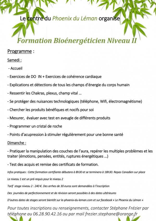 Programme Bio Niveau 2